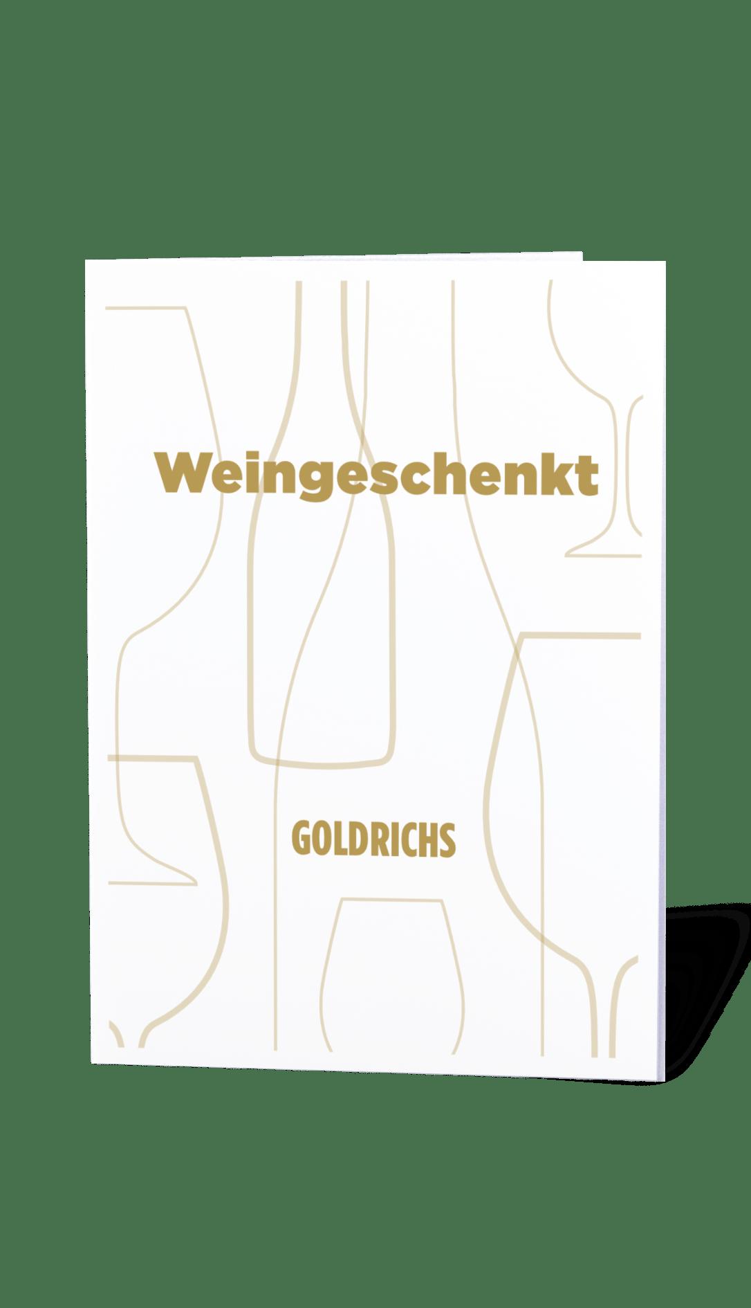 goldrichs wein gutschein motiv gold zum ausdrucken goldrichs. Black Bedroom Furniture Sets. Home Design Ideas